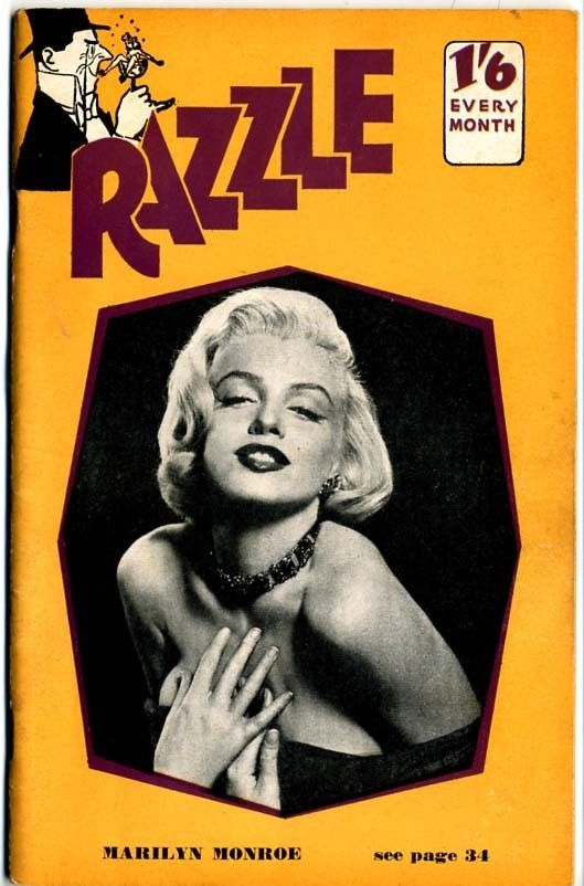 Marilyn Monroe On The Cover Of Razzle Magazine No 86 1956 Uk Photo By Frank Powolny 1953
