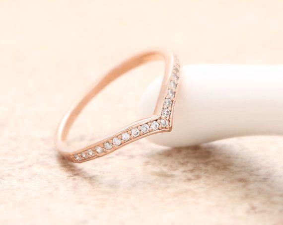 27c2e1bf14c5 Cubic Chevron Ring - Rose Gold    R079-RG    Chevron ring