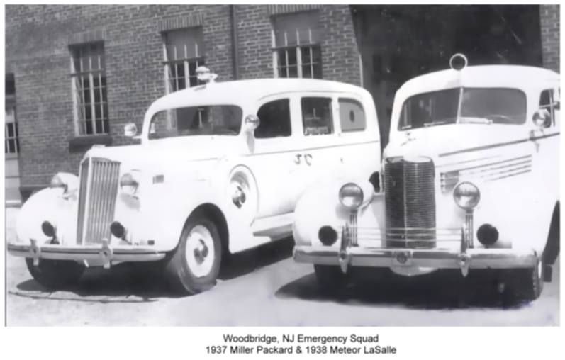 us Woodbridge, NJ Emergency Squad (1937 Packard; 1938 La Ssale)
