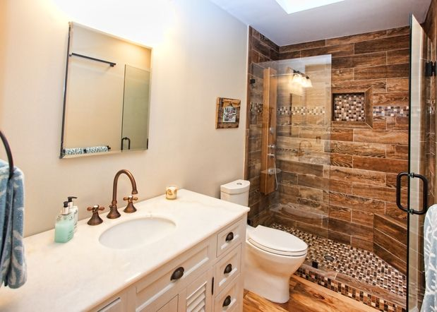 Small Bathroom Remodels Spending Vs Pinterest - $5000 bathroom remodel