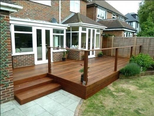 Cost To Build Deck Stairs Best Wooden Steps Images On Decks And Decking How Much Porch
