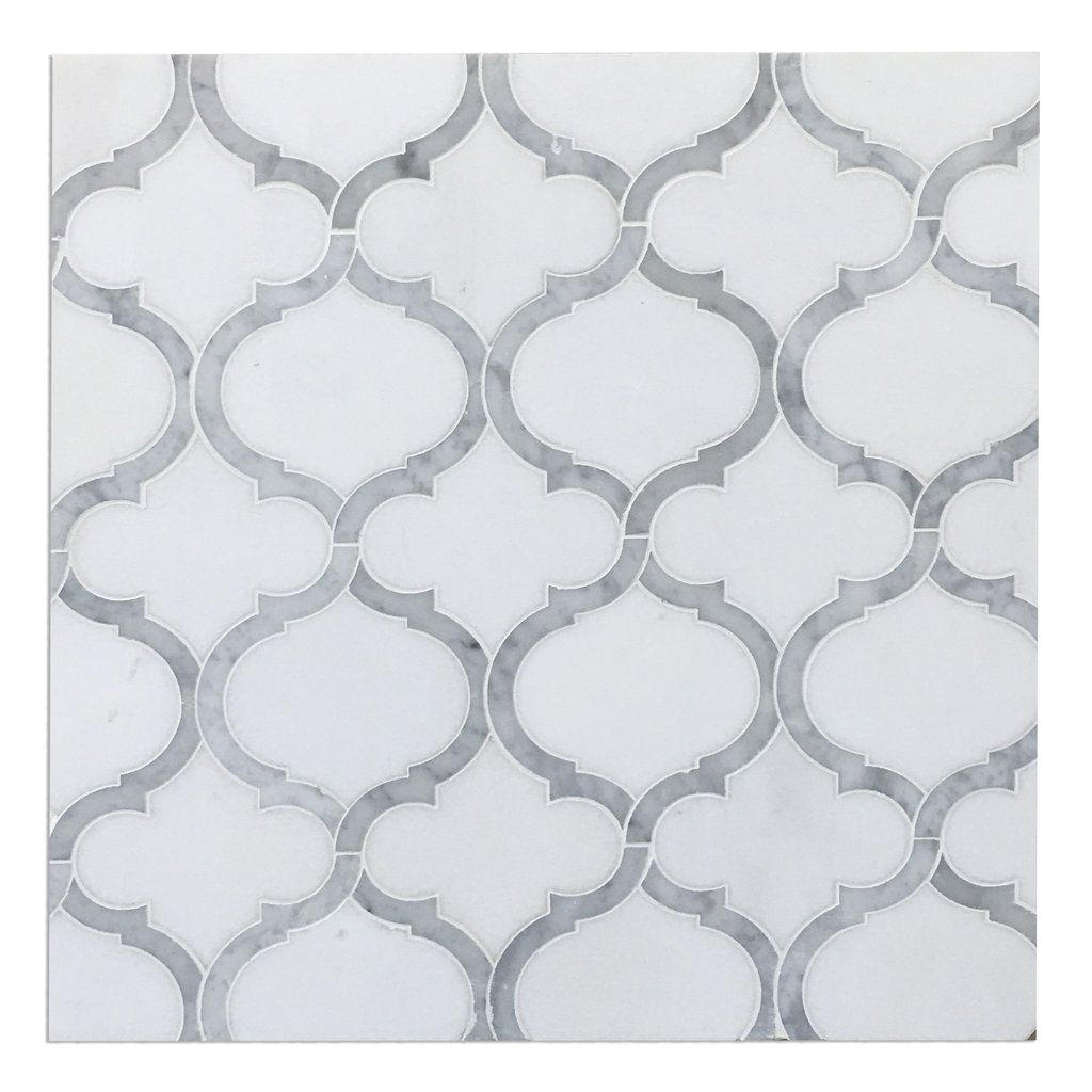 crisp white frosted and clear glass tile and marble entwined in luxury water jet mosaic marble tile luxury waterjet mosaic tiles at affordable pricing natural stone