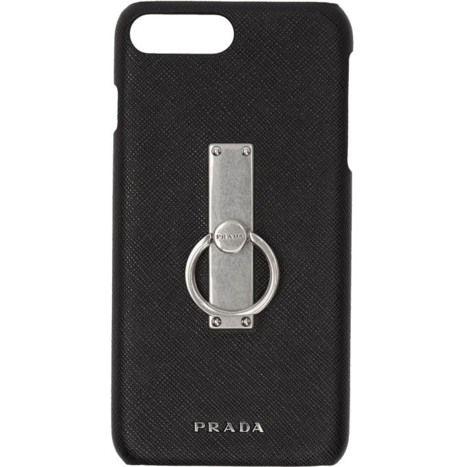 39e3f61f93a0 PRADA Black Saffiano Ring iPhone 7+ Case. #prada # | Prada | Prada ...