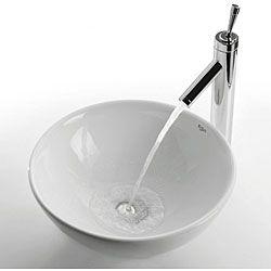 Merveilleux Kraus Round White Ceramic Vessel Sink   Overstock Shopping   Great Deals On  Kraus Bathroom Sinks