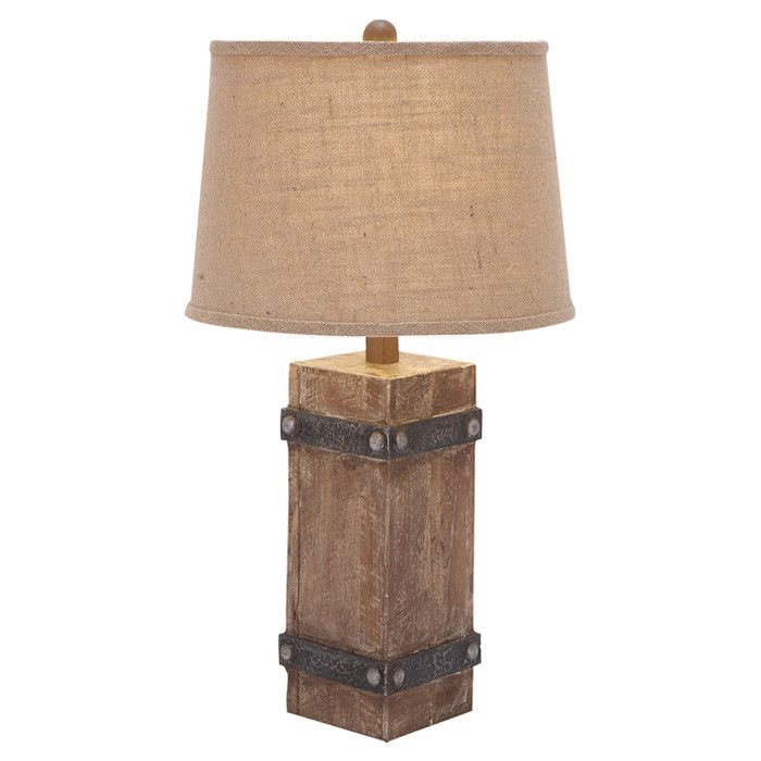 Rustic Wooden Table Lamp Intriguing Interiors