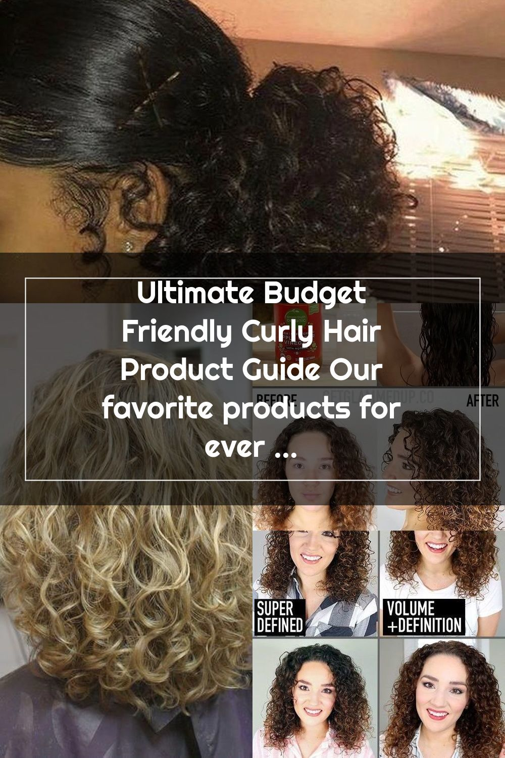 Ultimate Budget Friendly Curly Hair Product Guide Our favorite products for every step of your budget curl care routine! What products do you swear by?#naturalhair#curlyhair#budget #naturalcurlyhair