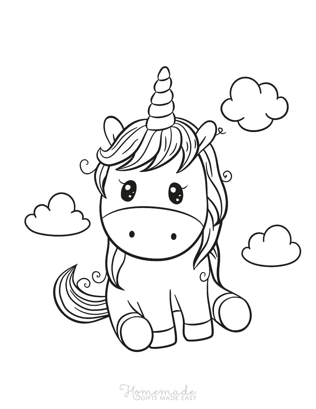 75 Magical Unicorn Coloring Pages For Kids Adults Free Printables Unicorn Outline Unicorn Coloring Pages Coloring Books