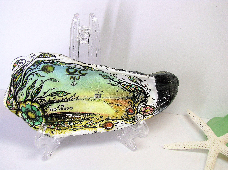 Reserved For Tara Kowalczyk New Version Of Mirage Ocean City Etsy Seashell Painting Seashell Art Sea Shells