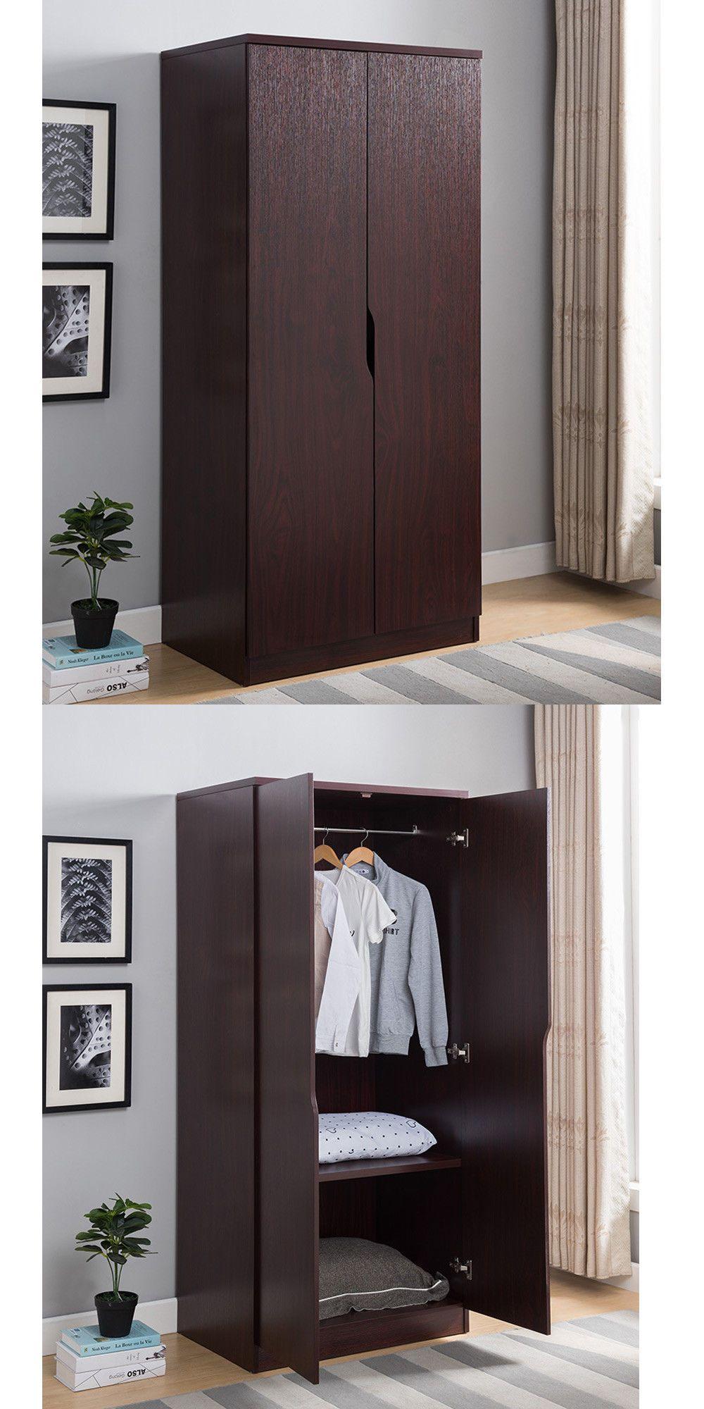 Armoires And Wardrobes 103430 Bedroom Furniture 2 Door Wardrobe Organizer Storage Closet Armoire W Wood Armoire Patio Furniture Redo Victorian Furniture Decor