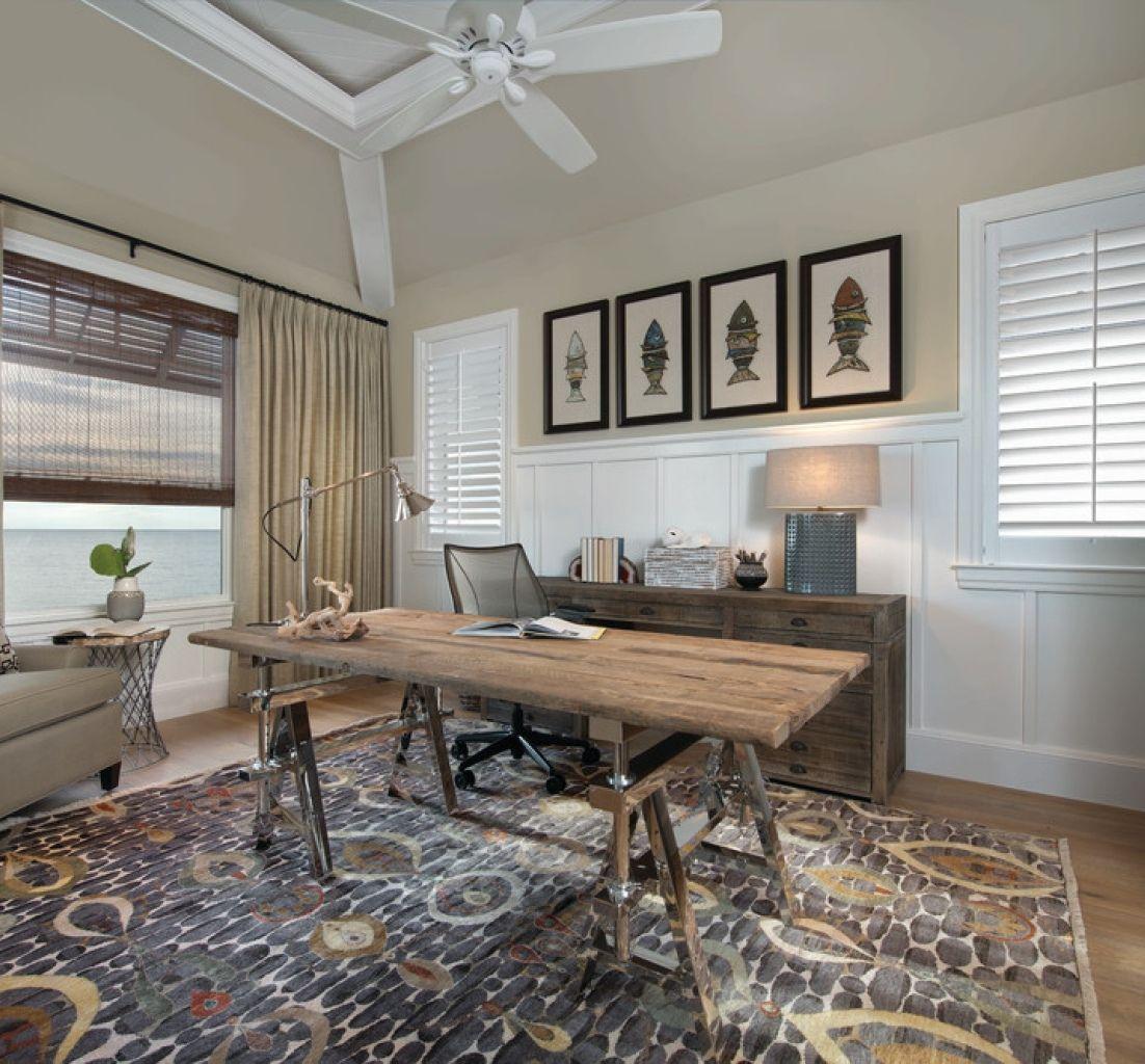 lovely home office design ideas | 25 Lovely Beach Style Home Office Designs
