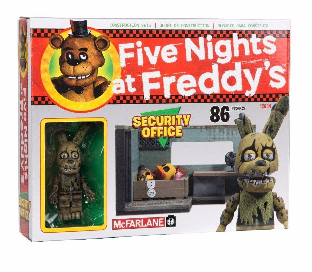 More five nights at freddy s construction sets coming soon - Amazon Com Mcfarlane Toys Five Nights At Freddy S The Security Office Construction Set