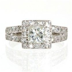 c81ca809c 18ct White Gold 1.00ct eq Art Deco Ring | Jewellery | Engagement ...