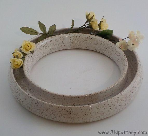 Stoneware Ring Vase Wheel Thrown Ceramic Pansy Ring Home Decor Flower Arranger Centerpiece Ready To Sh Wheel Thrown Ceramics Ceramic Flowers Ceramics