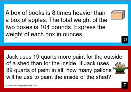 5.MD.A.1 Customary Units Conversion Word Problems | DIY ...