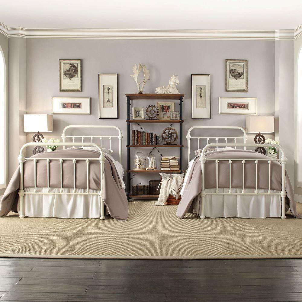 Homesullivan Calabria White Twin Bed Frame 40e411bt 1wbed The Home