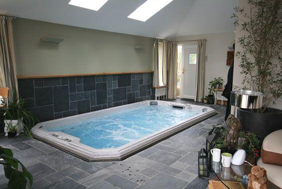 Indoor below ground #swimspa   Homes & Swim Spa Designs   Pinterest ...
