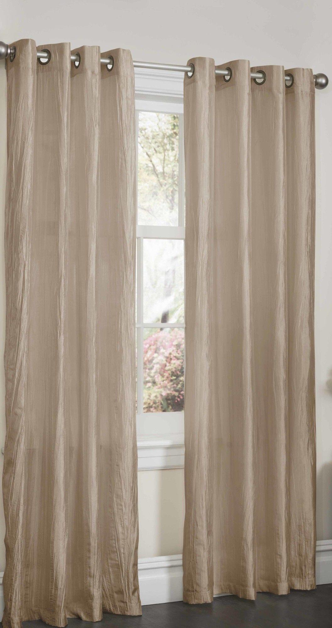 Sherry Crushed Satin Curtain Panel Satin Curtains Curtains