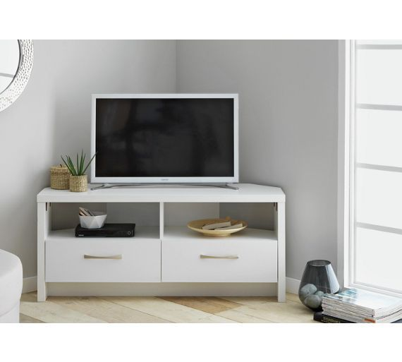 Collection Venice Large 2 Drawer Corner Tv Unit White At Argos Co