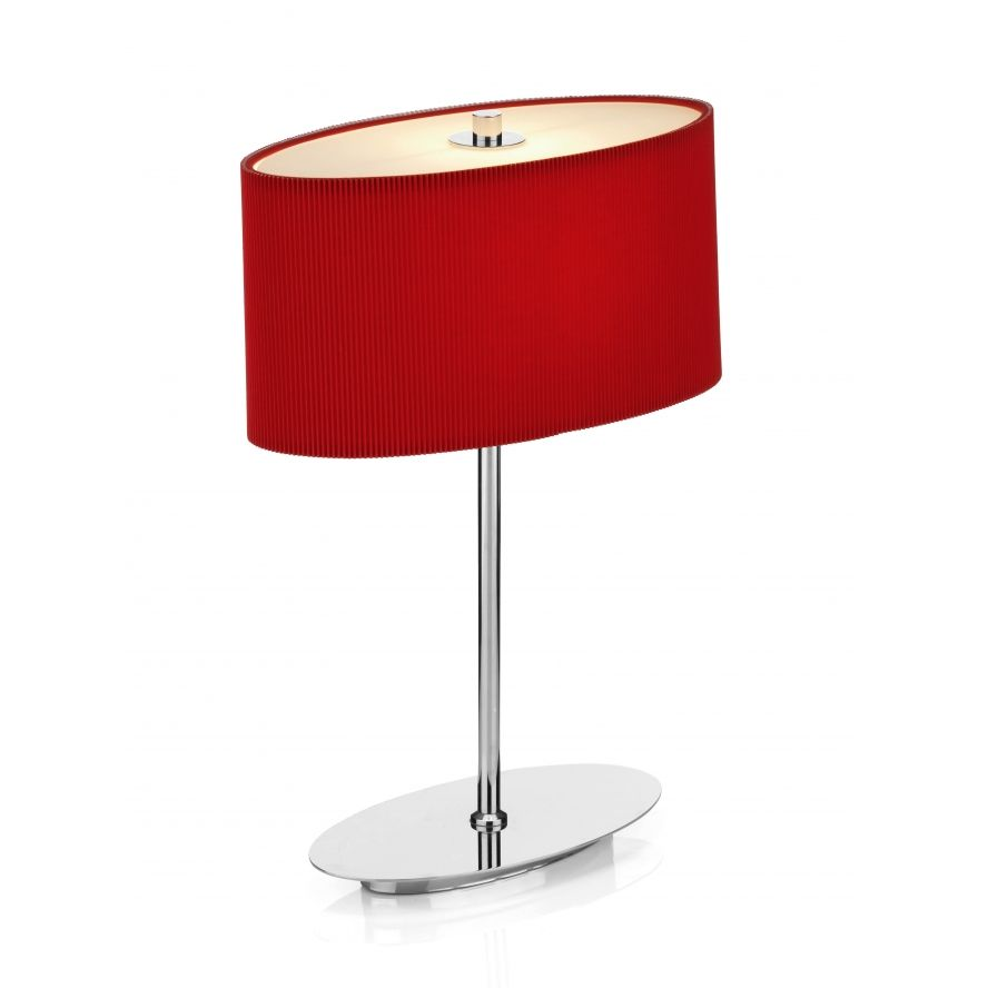Detect the location of damage lamp shades for table lamps http dar dar figaro 1 light modern oval table lamp red and polished chrome finish geotapseo Gallery