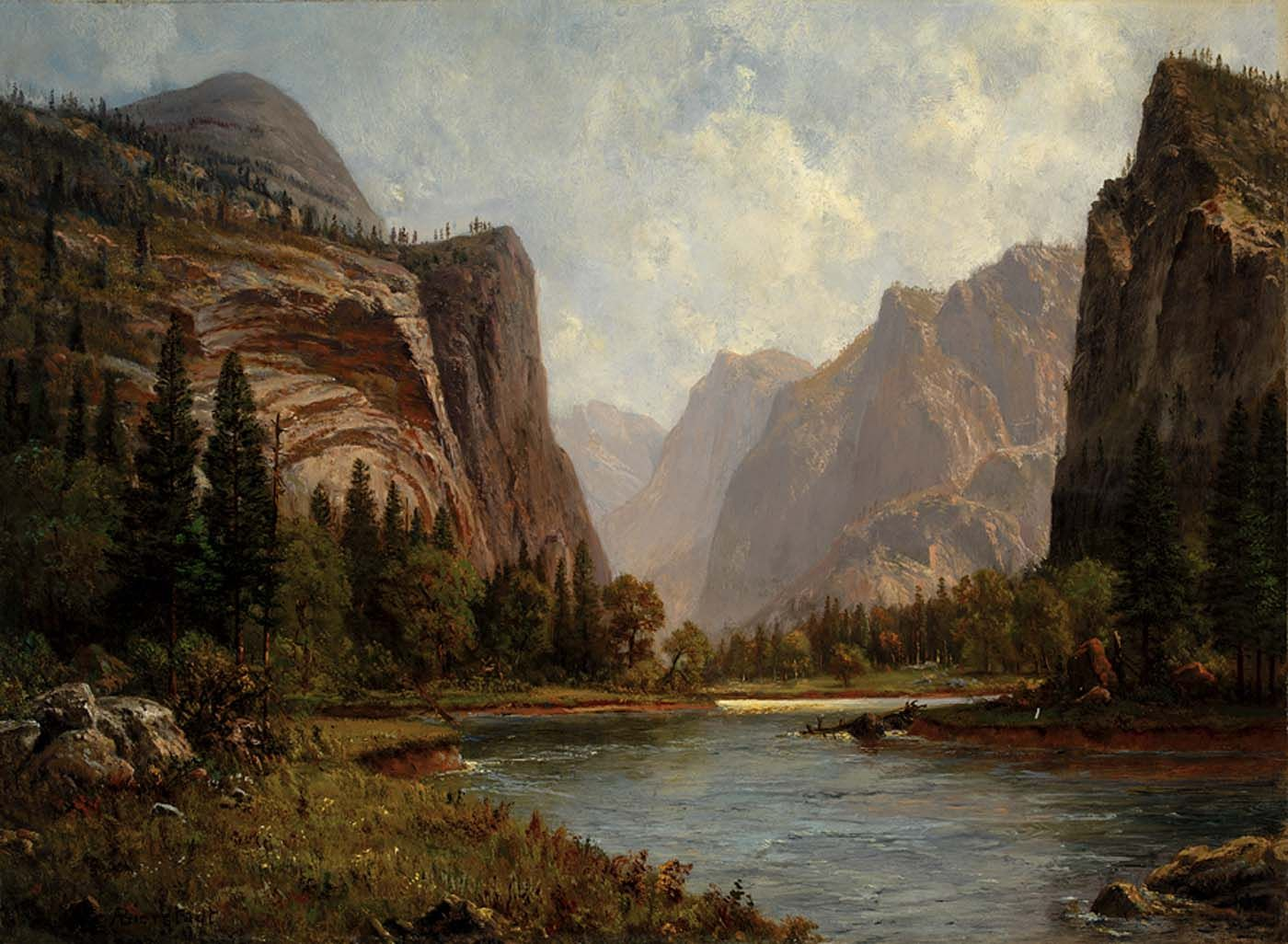 Albert Bierstadt - Gates Of Yosemite Louvre