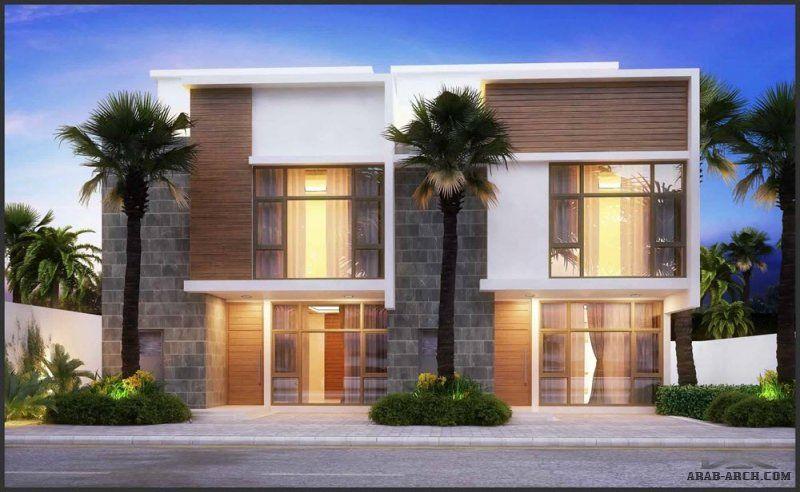فيلا النايفة تصميم داخلى و خارجى دوبلكس 245 متر مربع House Styles House Mansions