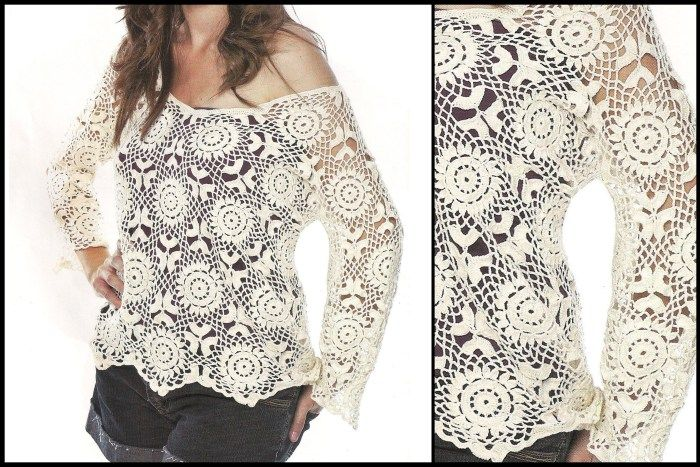 For this beautiful crochet blouse pattern free - See the step by ...