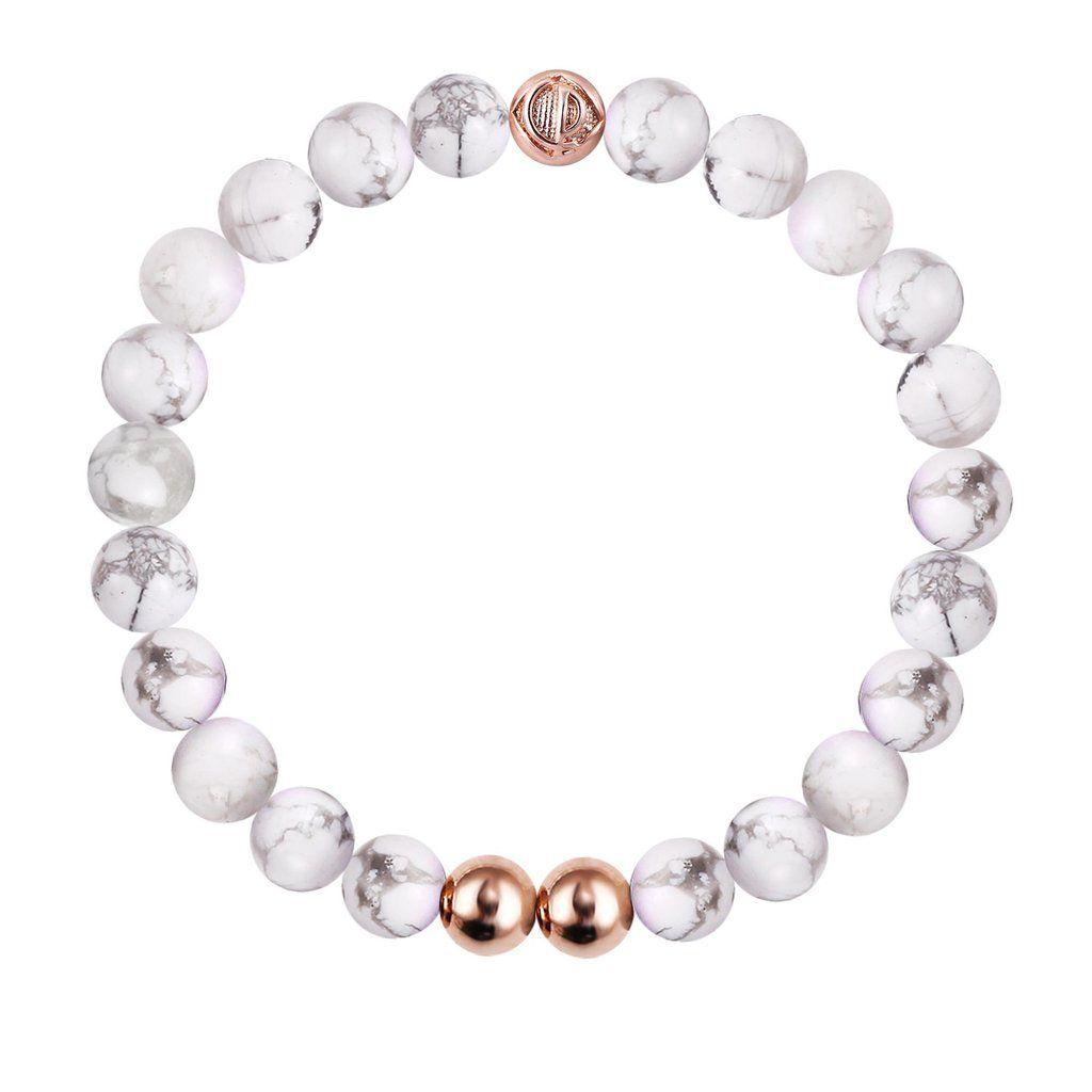 ORIGINAL HOWLITE/ROSE GOLD 25 Christian Paul bracelet