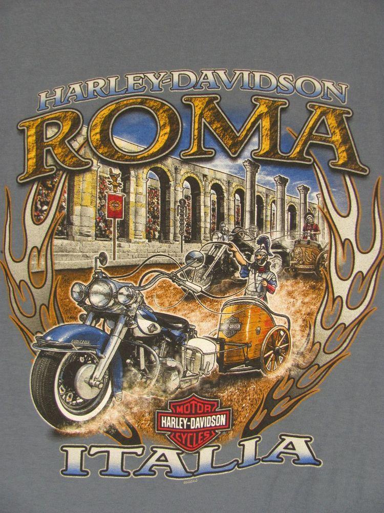 Harley Davidson T Shirt From Rome Italy Harley Davidson Harley Davidson T Shirts Italy Shirt