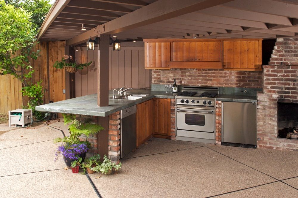 Images About Outdoor Kitchen On Pinterest Outdoor Living Run In Shed And Decks