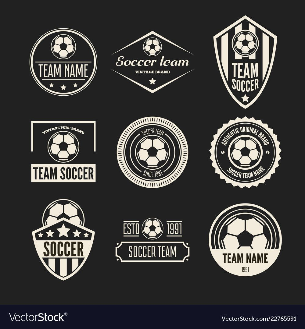 Set Of Football Or Soccer Club Logo Set Royalty Free Vector Spon Soccer Club Set Football Ad Logo Set Vector Free Abstract Logo