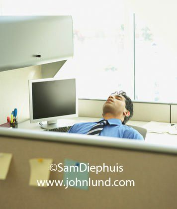 Picture Of A Man Asleep At His Desk At Work In His Office Funny
