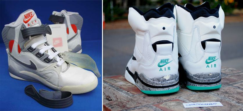 wholesale dealer eb34f a6db0 Nike Pump System (1990-92) Utilized in Air Pressure, Air Command Force, Air  Force 180 High In response to the Reebok Pump, Nike created thei.