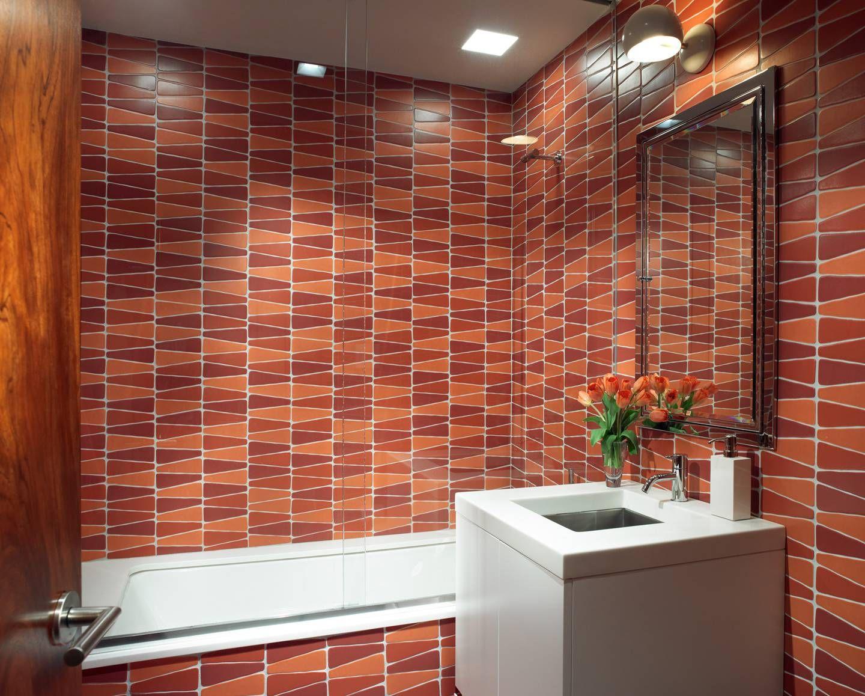 Modern Marsala Tiles In The Bathroom By Amy Lau Design