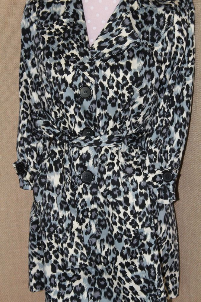 COAT! Forever 21 Forever21 TrenchCoat Cotton Blend Size 3/4 Animal Print #FOREVER21 #Trench