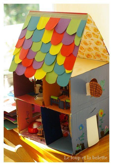 Le loup et la belette maison en carton 4 kids maison en carton activit manuelle maison - Activite a la maison ...