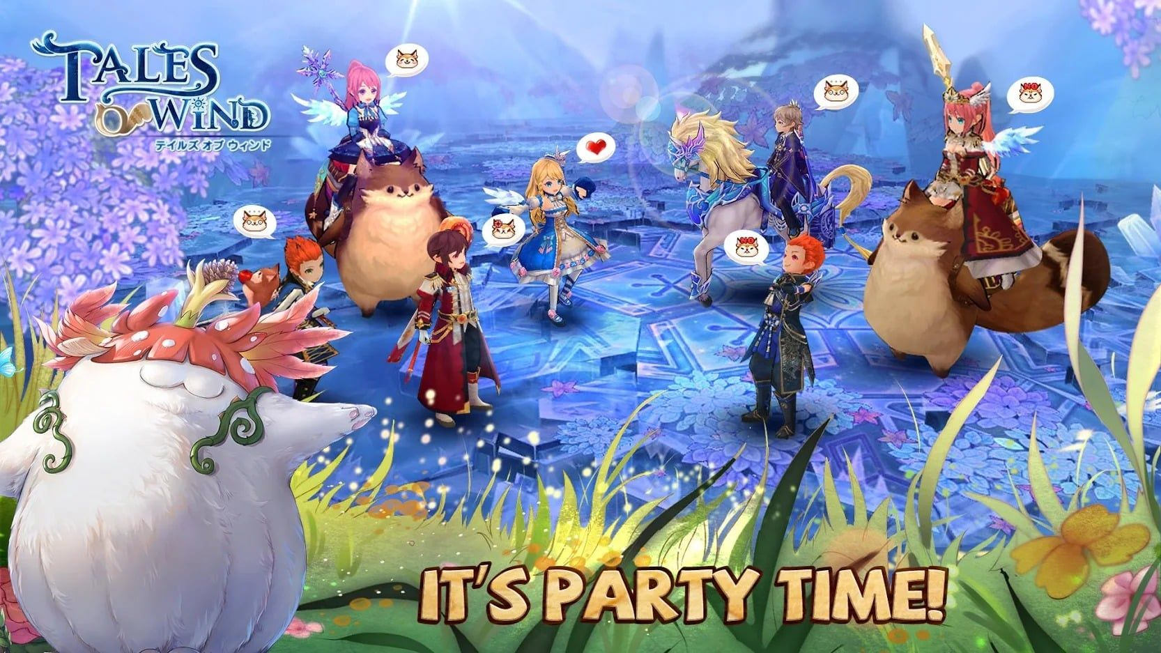 Tales Of Wind Heartwarming Mmo Mmo Battle Party Tales