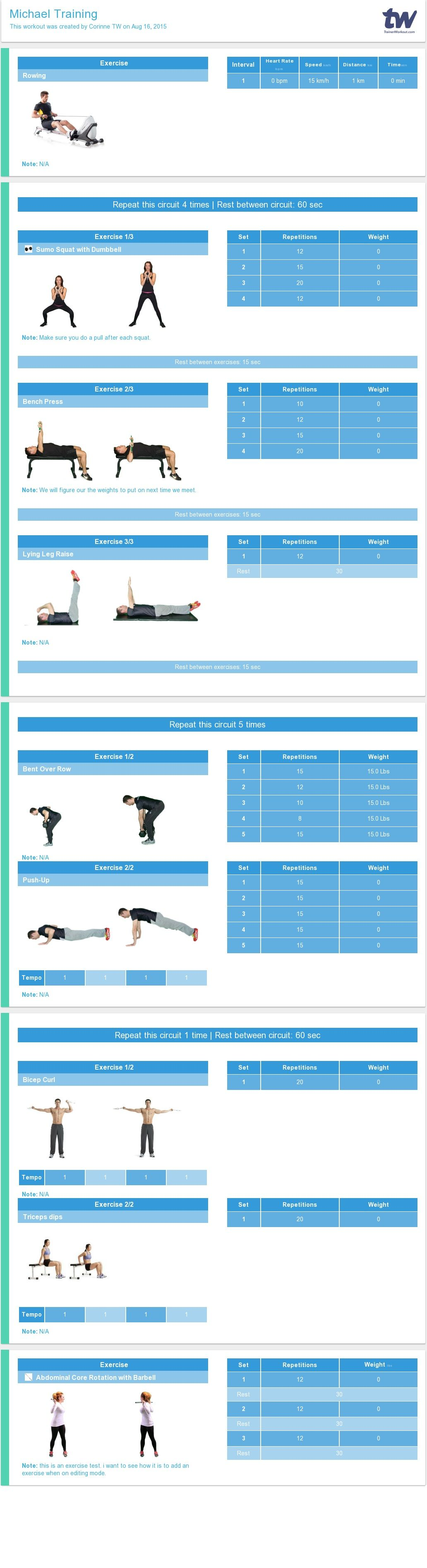 workout templates for personal trainers