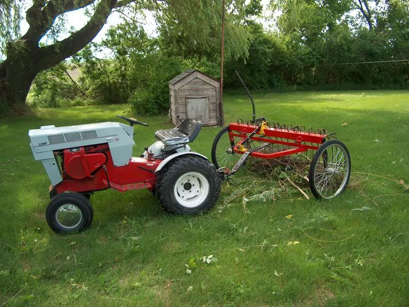 Small Homemade Tractors : Homemade hay rake for tractor google search