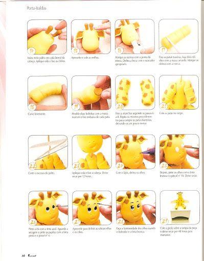 how to make a fondant giraffe step by step