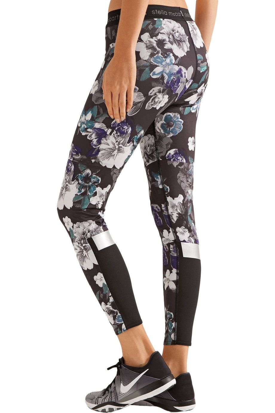 4dab7e0719e46 Shop on-sale Adidas by Stella McCartney Floral-print stretch-jersey leggings.  Browse other discount designer Activewear & more on The Most Fashionable ...