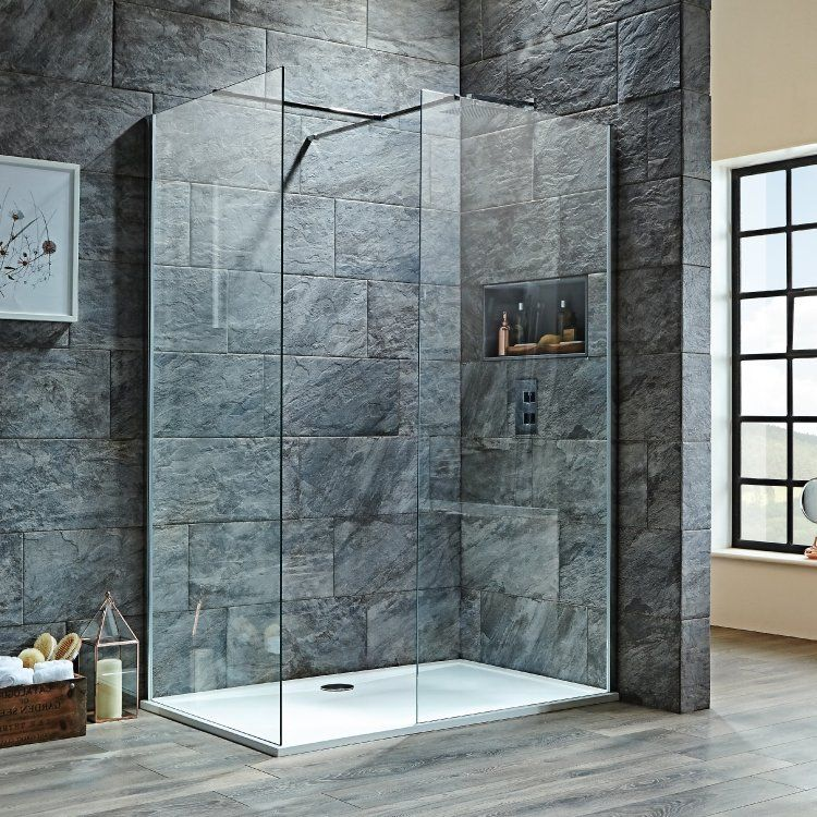 Signature 8mm Walk In Shower Enclosure 1100mm X 800mm 600mm 800mm Clear Glass In 2020 Walk In Shower Enclosures Walk In Shower Shower Enclosure