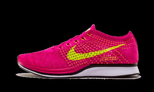sale retailer aa246 cdb1a Nike Flyknit Racer - 10.5 - 526628 607, Men s, Fireberry Volt-Pink Flash