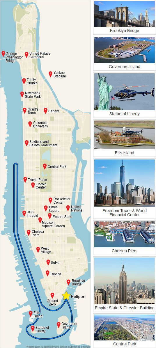 NYC Route Map | NYC Trip | Helicopter tour, New York, New York City
