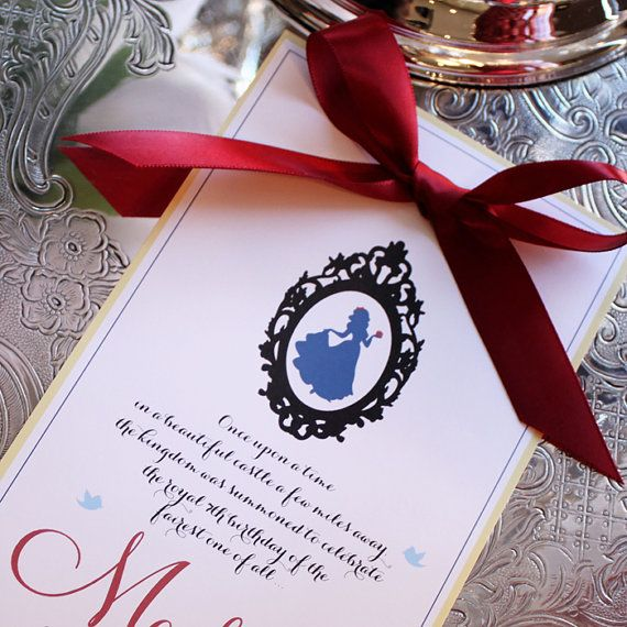 Snow Wedding Ideas: Sweet Snow White Inspired Printable Party By