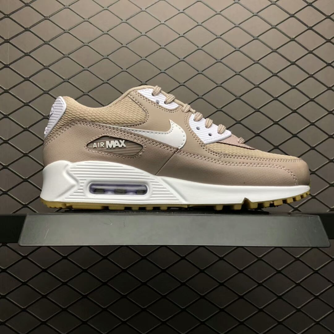 92c36f8e8d8 Womens Nike Air Max 90 Essential Diffused Taupe White-Gum 325213-210 Shoes  Free shipping
