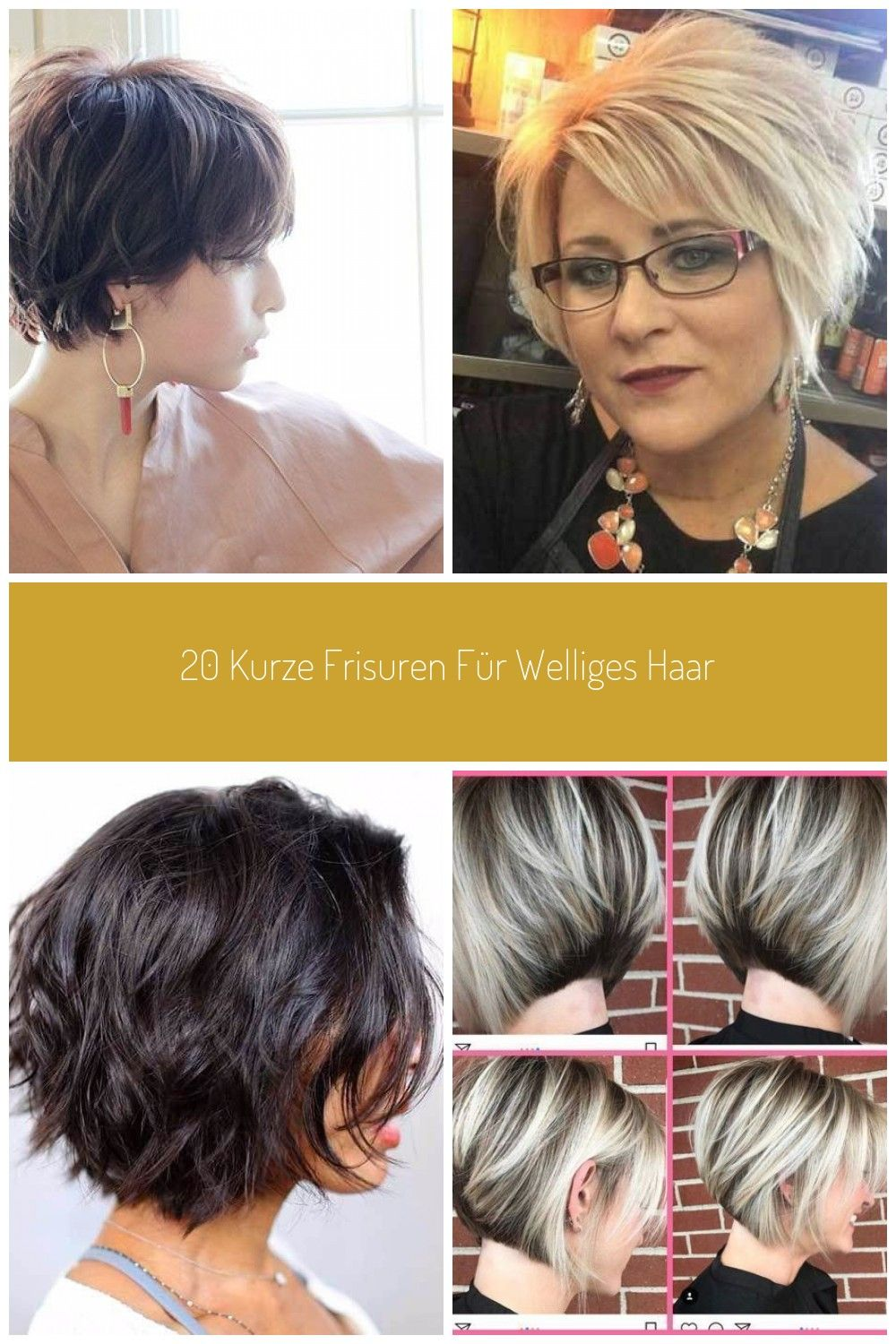 Short Hairtyles for Wavy Hair #Kurze Haarschnitte bob 11 kurze