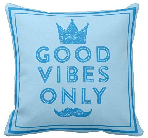 Kissenday 18X18 Inch Good Vibes Only Positive Quote Cotton Polyester Decorative Home Decor Sofa Couch Desk Chair Bedroom Car Cool Birthday Gift Cute Simple Saying Letter Square Throw Pillow Case Theme: Abstract Pineapple Daughter Valentine's Day Lovely Novelty Present living room, bedroom, office, dining Magical Thinking Feel Good inspirational Lumbar fun Cozy Sign Note to Self motivational wallpaper fond ecran dessin MotivationalThoughts Printable poster Spread positive inner bohemian spirit