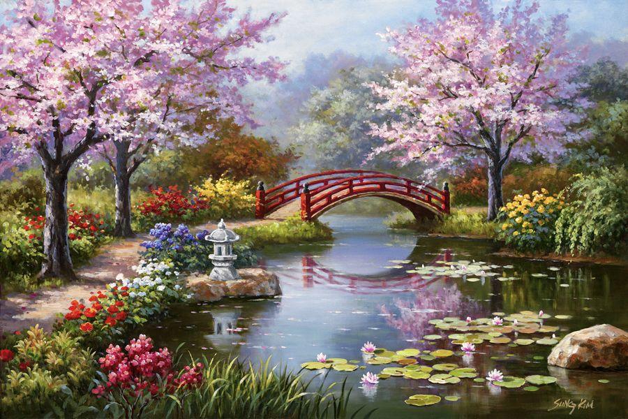 Japanese Waterliles by Sung Kim