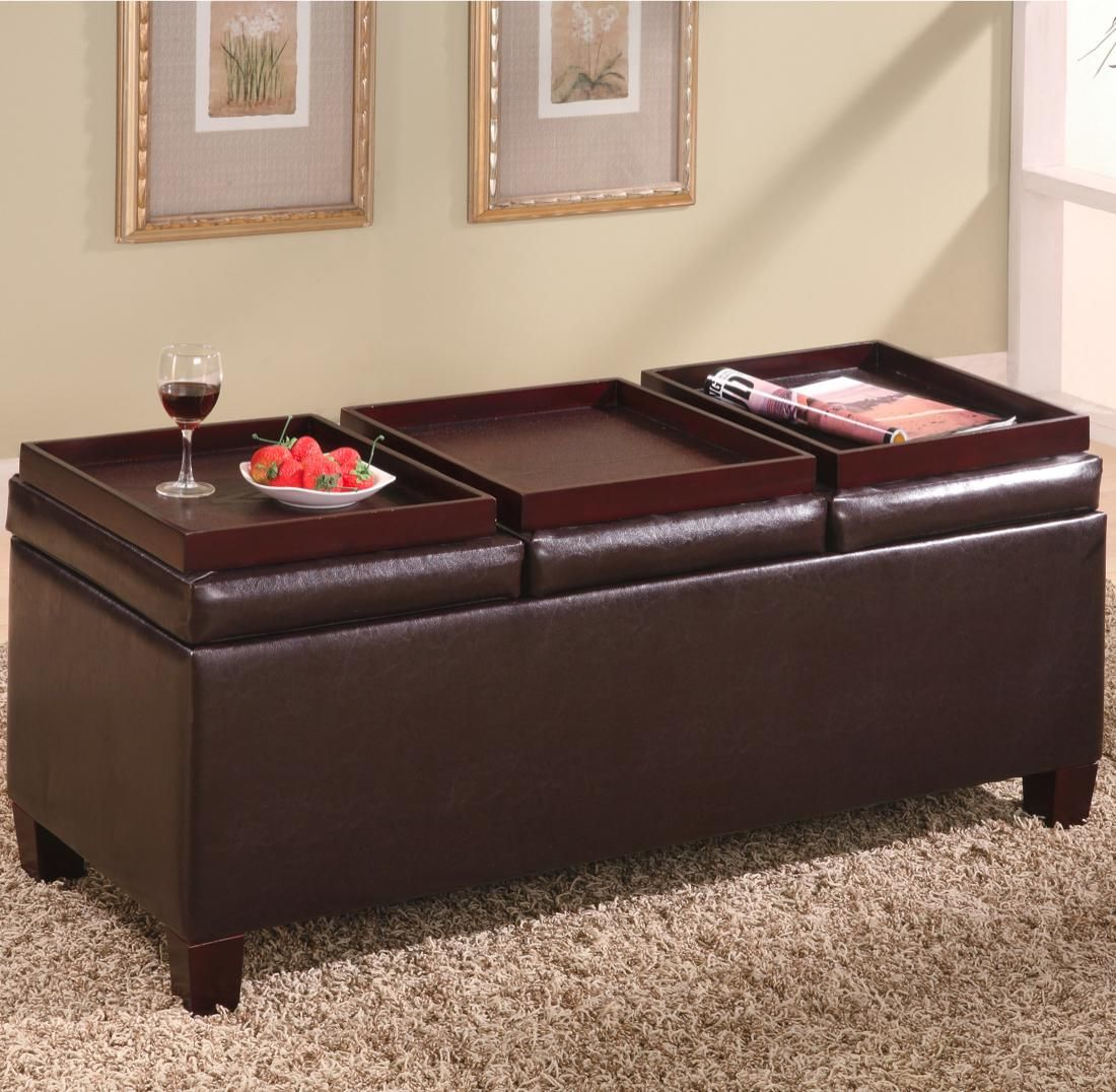 Swell Brown Faux Leather Storage Ottoman Bench By Coaster 501036 Pabps2019 Chair Design Images Pabps2019Com
