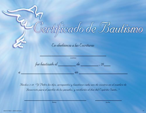 Christian Baptism Certificates Blank – Baptism Certificate